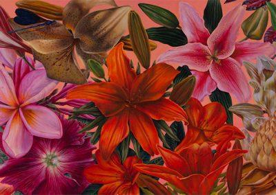 Jardín del Este Asiático • 2009 • 44 x 122 cm • acryl auf holzes · Magischer Realismus · Malerei