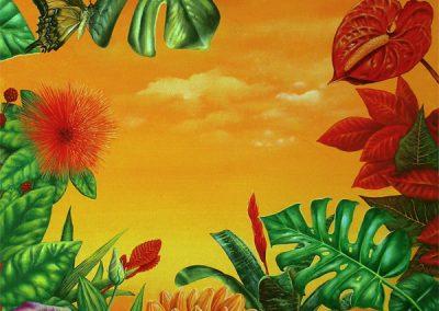 Adán en Mexico • 2008 • 61 x 46 cm • acryl auf holzes · Magischer Realismus · Malerei