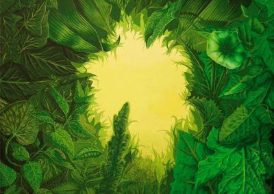 Botánica de la Península Ibérica I • 2000 • 79 x 111 cm • acryl auf holzes · Magischer Realismus · Malerei