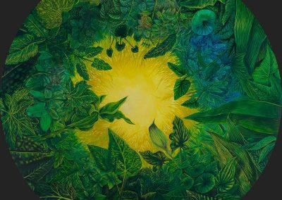 Botany of the Iberian Peninsula III • 2002 • 112 cm. Ø • acrylic on wood panel