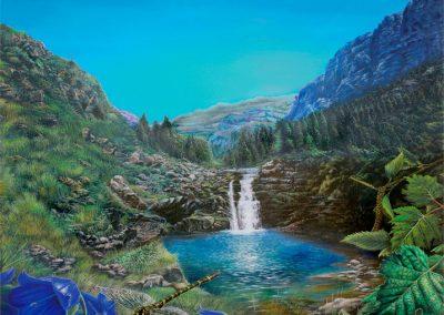 The Fairy of Ordesa • 2010 • 50 x 60 cm • El hada de Ordesa • 2010 • 50 x 60 cm • acrylic on wood panel