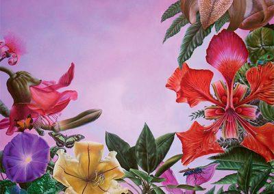 Esplendor en la Selva Mexicana • 2009 • 130 x 97 cm • acryl auf holzes · Magischer Realismus · Malerei