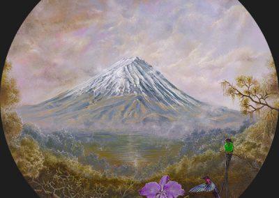 أكريليك على لوحة خشبية • Fujiyama • 2016 • 31 cm. Ø