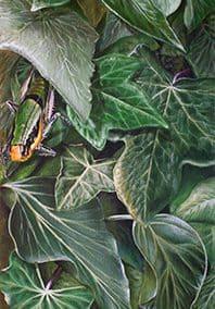 Hiedra • 2008 • 92 x 20 cm • acryl auf holzes · Magischer Realismus · Malerei
