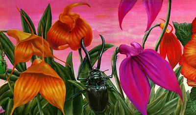Paraíso andino • 2008 • 20 x 92 cm • acryl auf holzes · Magischer Realismus · Malerei