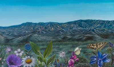 Paraíso de Monegrillo I • 2009 • 40 x 200 cm • acrílico sobre madera