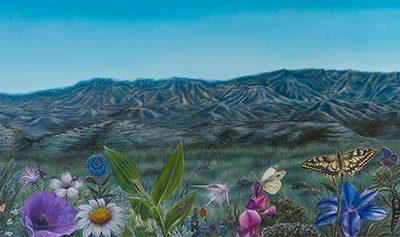 Paradise in Monegrillo I • 2009 • 40 x 200 cm • acrylic on wood panel